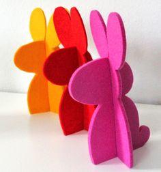 Térbeli filc (vagy papír) nyuszi egyszerűen (sablonnal) / Mindy - kreatív ötletek és dekorációk minden napra