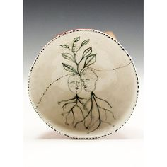 Growing Together  Ceramic Pinched Finger Bowl by by jennymendes