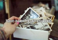 A shoe box full of childhood photos