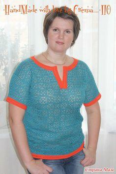 """Pretty filet crochet shirt  Блузка """"Просто филейная""""...: Дневник группы """"Все в ажуре... (вязание крючком)"""" - Страна Мам"""