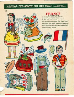 Around the World Cut-Out Dolls - France