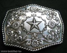 Cool Country Western Cowboy Sheriff Star Belt Buckle
