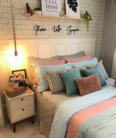 Girly Bedroom Decor, Room Design Bedroom, Teen Bedroom Designs, Teen Room Decor, Home Room Design, Room Ideas Bedroom, Home Design Decor, Cheap Home Decor, Room Inspiration