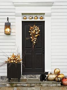Shimmering Displays  A simple at-home gilding kit can transform mundane pumpkins and gourds into something spectacular. (Basic Gilding Kit, $29; amazon.com)    Read more: Halloween Party Decor - Spooky Halloween Decorating Tips - Country Living