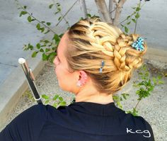 I tried the braid from this link:   http://m.beautifulshoes.org/diy-braid-around-ponytail/?fid=11