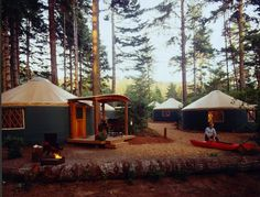 Umpqua Lighthouse State Park - Deluxe Yurt Camping $56-$76 per night 4 hours away from Vancouver, WA