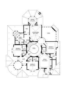 Second Floor Plan of Farmhouse  Victorian   House Plan 87609