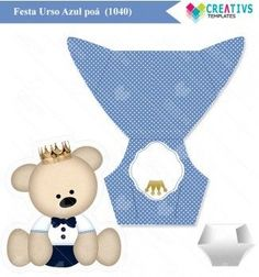 Kit Festa Urso mod:1040 Teddy bear Printable party
