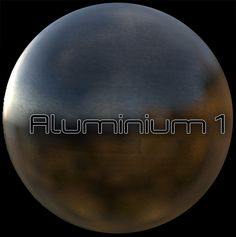 Aluminium material created by the Materializer PBR Texturing Engine for Unity 3D. Image rendered with Alloy and Shyshop.