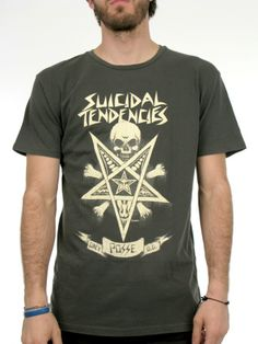 Possessed X Suicidal Tendencies T-Shirt for men by Obey 100% Cotton Model is wearing a size Large