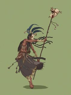 Witch Doctor - Another character concept for my graphic novel [OC] ManuelFigueiredo Fantasy Character Design, Character Design Inspiration, Character Concept, Character Art, Concept Art, Witch Characters, Dungeons And Dragons Characters, Fantasy Characters, Anime Characters