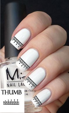 Lace nail decal set 50pc by DesignerNails on Etsy, $3.95