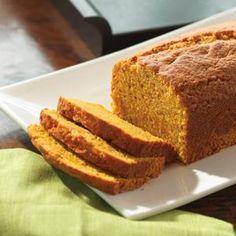 pumpkin-spice-bread Crisco Recipes, Flour Recipes, Bread Recipes, Baking Recipes, Pumpkin Spice Bread, Canned Pumpkin, Pumpkin Recipes, Fall Recipes, Pumpkin Foods