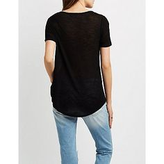 Destroyed Cut-Out Neck Boyfriend Tee