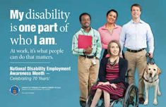 """My disability is one part of who I am."" We are proud to support National Disability Employment Awareness Month (NDEAM). Held each October, NDEAM aims to educate about disability employment issues and celebrate the many and varied contributions of America's workers with disabilities."