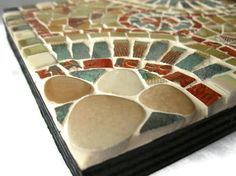 Trivet or Wall Art hanging Mosaic tile Brown by Margalita on Etsy, $35.00