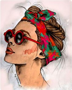 Drawing Portraits - Ilustrações - Hugo Rachmaninov - Discover The Secrets Of Drawing Realistic Pencil Portraits.Let Me Show You How You Too Can Draw Realistic Pencil Portraits With My Truly Step-by-Step Guide. Illustration Mode, Illustrations, Fashion Illustration Face, Makeup Illustration, Bd Pop Art, Pop Art Girl, Vexx Art, Arte Fashion, Posca Art