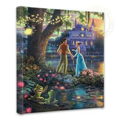 "Princess and the Frog, The – 14"" x 14"" Gallery Wrapped Canvas"