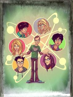 Fan art of The Big Bang Theory characters The Big Theory, Big Bang Theory Show, Big Bang Theory Funny, Big Bang Theory Quotes, Big Bang Theory Zitate, Big Bang Theory Characters, The Big Bang Therory, Tbbt, Geeks