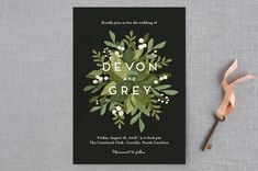 Laurel of Greens Wedding Invitations by Jennifer W... | Minted