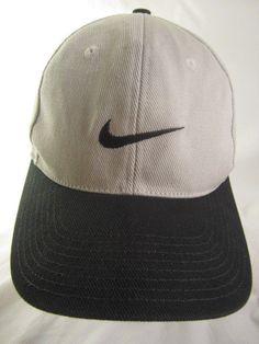 b59cfb41794 Vintage Nike Ball Cap Snapback 100% Cotton White Dark Green Embroidered  Swoosh  Nike  BaseballCap