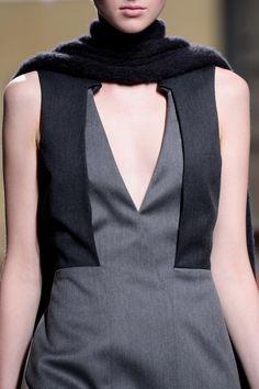 Graphic panelled dress; pattern cutting; fashion details // Hugo Boss Fall 2014