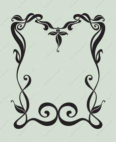 Art Nouveau Border - Premium Content by ~dreamwarrior on deviantART