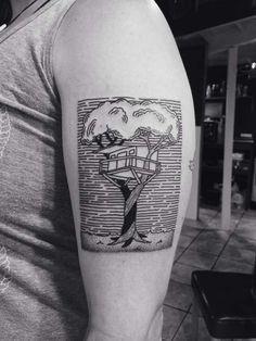 A Treehouse on your skin | Hometreehome Tattoo by Tara Johnston