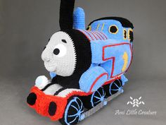 This is free pattern for Thomas from Thomas and Friend series. : This is free pattern for Thomas from Thomas and Friend series. Crochet Toys, Free Crochet, Disney Cars Party, Car Party, Disney Nursery, Baby Mouse, Thomas The Train, Thomas And Friends, Disney Christmas