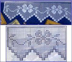 Kira scheme crochet: Scheme crochet no. Crochet Edging Patterns, Filet Crochet Charts, Crochet Lace Edging, Crochet Motifs, Crochet Borders, Crochet Diagram, Doily Patterns, Thread Crochet, Crochet Doilies