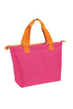Zippered tote in a fun color combo. Comes is three other equally fun colors!