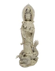 An extraordinary Guanyin sculpture standing on a dragon, beautiful gracefully appointed sculpture in blanc de chine, starting at 30K https://www.liveauctioneers.com/item/60146400_a-blanc-de-chine-guan-yin-standing-on-a-dragon  #Guanyin #AsianArt #AsianAntiques #Asian #Buddhist #BuddhistArt #Antiques #Goddesses #Blanc de chine #Porcealin