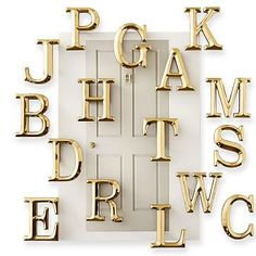 4-Inch Brass Initial Door Knocker #makeyourmark
