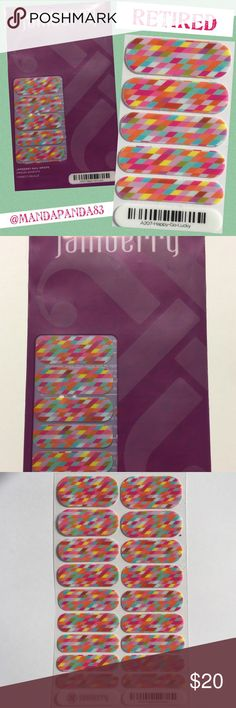 Jamberry RETIRED 'Happy Go Lucky' Wraps NWT & RETIRED! Add a pop of color with these awesome and colorful wraps! Color is slightly lighter than last pic! Instructions sent with purchase! Jamberry Accessories