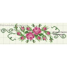 Cross Stitch Embroidery, Cross Stitch Patterns, Cross Stitch Flowers, Needlework, Diy And Crafts, Creations, Floral, Bathroom Towels, Crochet Stitches