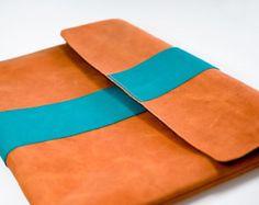 iPad PRO Leather Sleeve BIG PUMPKIN Organic Leather by filzstueck