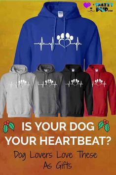 We're in love with these cute hoodies with sayings and are confident that other men, women and teen dog lovers will be too. These casual comfy hooded sweatshirts make them ideal for cold nights, family BBQs and visits to the dog park. Do you know a Dog Dad or Mom that's hard to buy for? These make great gifts. Discover even more cool dog hoodies in our Snazzypup store today!  #hoodies #presents #gifts #christmasgifts #dogs #doglovers #dogmom