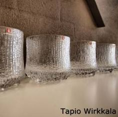 Ultima Thule glasses, designed by Tapio Wirkalla in 1966, manufactured and produced by Iittala, Finland.