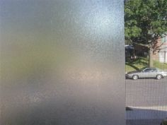 Frosted Glass Window Film by Kittrich Corporation. $10.99. This Frosted Glass window film will provide a right amount of privacy while still letting in sunlight. Tough, durable and repels stains. Wipes clean easily. It could be used for a variety of projects. Each roll features an easy-to-peel liner and an adhesive that allows it to be repositioned during installation without leaving a sticky residue. It's easy to apply, easy to remove and easy to keep clean. Simply cut to ...