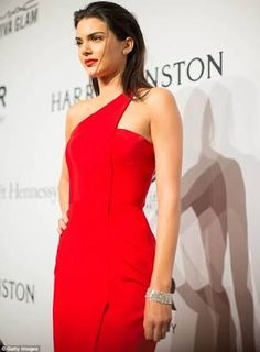 kendall jenner amfar red dress - Google Search