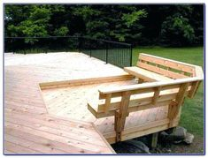 Built In Deck Bench Plans Bench With Back Support