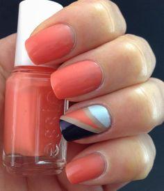 Essie Resort Fling 2014 Collection Color Blocking  Nail Art