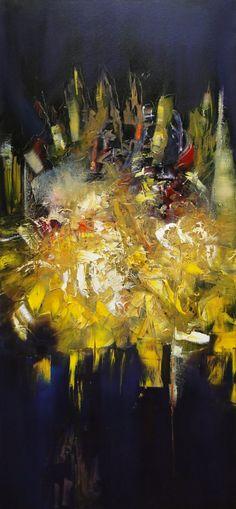 """Colores en fuga"" - Monica Medina - Oleo sobre tela - - 100 x 50 cm  www.esencialismo.com"