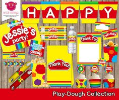 Play Dough Party Printables by ArtfulMonkeys on Etsy