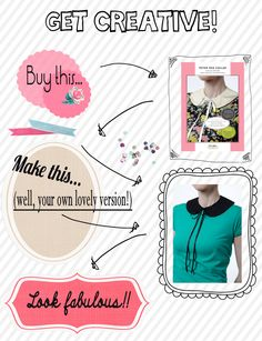 Get creative! Get sewing this weekend!! #sewing #dressmaking #needlework #costura #cucito #diy #brico #naaien #craft #crafternoon #couture #fashion  http://www.facebook.com/EllieWestSewing #etsy