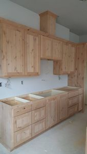 Are you remodeling your kitchen and need cheap DIY rustic kitchen cabinets with tin? We got you covered. Here are cabinet plans you can build easily. decor diy how to build Popular Rustic Kitchen Cabinets Design Ideas Kitchen Cupboard Designs, Rustic Kitchen Cabinets, Kitchen Cabinet Styles, Diy Cabinets, Interior Design Kitchen, Kitchen Rustic, Kitchen Ideas, Rustic Kitchens, Building Kitchen Cabinets