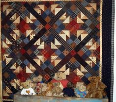 Boogey Bears Quilt Pattern by FiddlestixDesign on Etsy, $8.95
