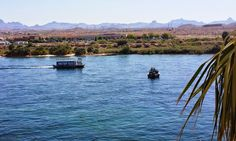 Fishing in Laughlin, NV as a Water Taxi passes by. Fishing Report, River Walk, Nevada, Southern, Mountains, Taxi, Water, Travel, Outdoor