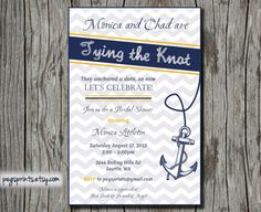 Nautical Bridal Shower Invite Printable by pegsprints on Etsy, $13.00