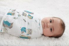 Aden+Anais organic Swaddle for baby. The Green Soho.Moda Sostenible. Organic Baby Products